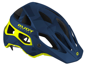 Kask Rudy Project Protera MTB blue camo/yellow fluo