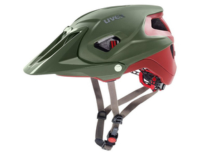 Kask Uvex Quatro Integrale green red mat