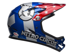 Kask  Bell Sanction nitro circus gloss silver blue red