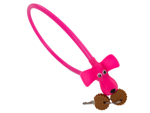 "Zapięcie Cube RFR Cable Lock HPS ""DOG"" 10x450 pink"