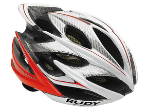 Kask Rudy Project Windmax szosowy/MTB  white/red fluo r. S/M